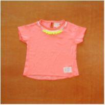 Blusinha Rosa Zara 6 - 9 meses Semi Nova - 6 a 9 meses - Zara