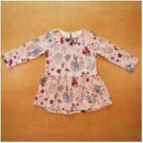 Vestido Manga Longa Zara 12 a 18 meses - 12 a 18 meses - Zara