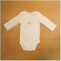 Body Infantil Manga Longa Listras Sol Lua Nuvem Carter`s 6m Novo - 6 meses - Carter`s
