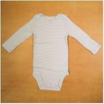 Body Infantil Manga Longa Azul Listras Carter`s 9 meses Novo - 9 meses - Carter`s
