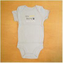 Body Infantil 18 meses Azul Carter`s Novo - 18 meses - Carter`s