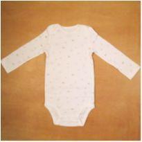 Body Manga Longa Infantil  Branco Céu 18 meses Carter`s Novo - 18 meses - Carter`s