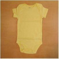Body Infantil Amarelo Listras Carter`s 18 meses Novo - 18 meses - Carter`s