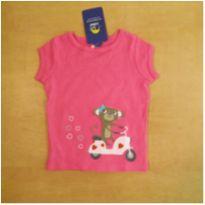 Camiseta Rosa Carter`s 6 meses Semi Nova - 6 meses - Carter`s