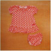 Vestido e Tapa Fralda Laranja Green 6-9 meses - 6 a 9 meses - Green