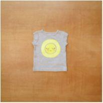Camiseta Cinza Smile Carter`s 6 meses - 6 meses - Carter`s