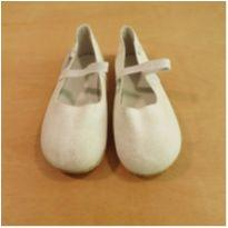 Sapato Couro Branco Glitter Babo Uabu Tamanho 29 - 29 - Babo Uabu