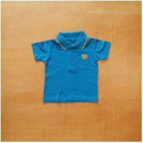 Camiseta Polo Infantil Azul Tigor T. Tigre 6-9 meses - 6 a 9 meses - Tigor T.  Tigre