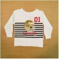 Camiseta Manga Longa Alakazoo! 6-9m - 6 a 9 meses - Alakazoo!