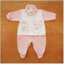 Macacão Rosa Plush Parkinho do Bebê Recém Nascido - Recém Nascido - PARKINHO DO BEBE
