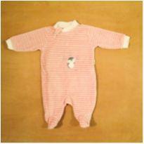 Macacão Rosa Pinguim RN Baby Confort - Recém Nascido - baby confort