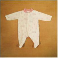 Macacão Branco e Rosa Pinguim RN Baby Confort - Recém Nascido - baby confort