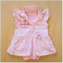 Body Vestido Rosa 3 meses - 3 meses - sem etiqueta
