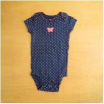 Body Azul Borboleta 9m Carter`s - 9 meses - Carter`s