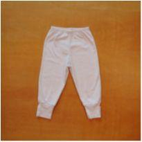 Calça Culote Branca Dedeka 9-12m - 9 a 12 meses - Dedeka