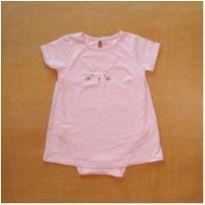 Body Vestido Rosa Coelho Primark 12-18 meses - 12 a 18 meses - Primark