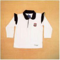 Camiseta Manga Longa Feminina Corinthians Pequeno Torcedor 12 a 18 meses - 12 a 18 meses - sem etiqueta