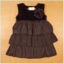 Vestido Preto Babados Pituchinhu`s 2 anos - 2 anos - Pituchinhus