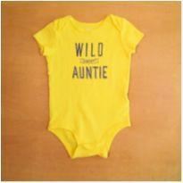 """Body Amarelo """"Louco (a) pela Tia"""" 18 meses Carter`s - 18 meses - Carter`s"""