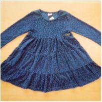 Vestido Manga Longa Plush Azul Momi 4 Anos - 4 anos - Momi