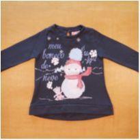 Blusa de Moletom Boneco de Neve Momi 4 Anos - 4 anos - Momi