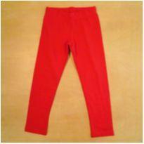 Calça Legging Felpuda Vermelha Malwee 4 Anos Nova com Etiqueta - 4 anos - Malwee