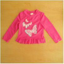 Camiseta com Proteção Solar UV Rosa Borboletas Gymboree 2 Anos - 2 anos - Gymboree