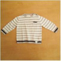Suéter Cinza e Branco Zara 18-24 Meses - 18 a 24 meses - Zara