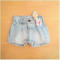 Short Jeans Laço PUC 6-9 Meses - 6 a 9 meses - PUC
