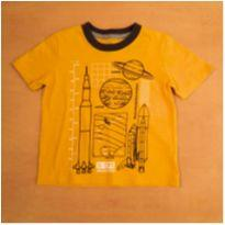 Camiseta Amarela Espaço Planeta Oshkosh B`gosh 4 Anos - 4 anos - OshKosh