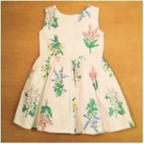 Vestido Floral Branco Carter`s 4 Anos - 4 anos - Carter`s