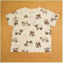 Camiseta Urso Carter`s Cinza 9 Meses - 9 meses - Carter`s