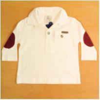Camisa Branca 3-6 Meses Paola Bimbi - 3 a 6 meses - Paola BimBi