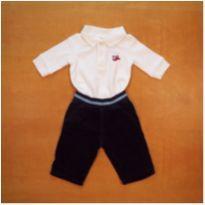 Conjunto Body Polo e Calça de Veludo Gymboree 0 a 3 meses - 0 a 3 meses - Gymboree