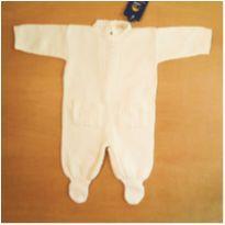 Macacão Infantil Menino com pé Art`s Baby 0-3 Meses - 0 a 3 meses - Sem marca