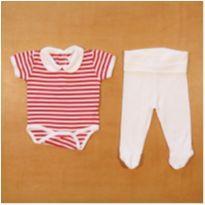 Conjunto Body e Culote Bobotcho 1 - 3 meses - 0 a 3 meses - Bobotcho