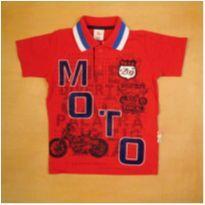 Camiseta Polo Vermelha Moto 4 anos Zig Zig Zaa - 4 anos - Zig Zig Zaa