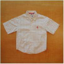Camisa Branca Xadrez Lazy 3 Anos - 3 anos - Lazy