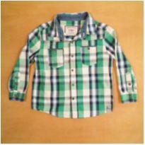 Camisa Xadrez Verde Póim 3-4 anos - 3 anos - Poim