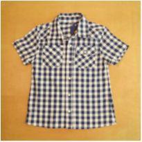 Camisa Xadrez Azul 4 anos Semi Nova - 4 anos - sem etiqueta