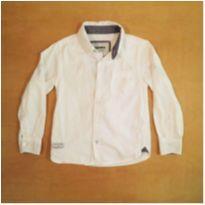 Camisa Social Branca 4 anos Fuzarka - 4 anos - Fuzarka