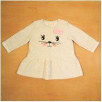 Vestido Moletom Felpudo 9-12 Meses Teddy Boom - 9 a 12 meses - Teddy Boom