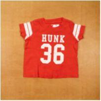 Camiseta Vermelha Hunk 36 Carter`s 6 Meses - 6 meses - Carter`s