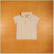 Camiseta Polo Lisa Cinza Carter`s 9 Meses - 9 meses - Carter`s