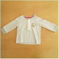 Camiseta Manga Longa Carter`s Cinza 9 Meses - 9 meses - Carter`s