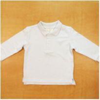 Camiseta Polo Azul Semi Nova Zara 12-18m - 12 a 18 meses - Zara