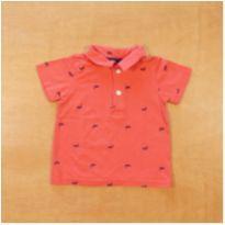 Camiseta Polo Coral 12 Meses Carter`s - 1 ano - Carter`s
