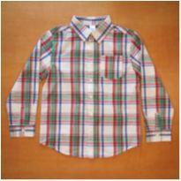 Camisa Manga Longa Gymboree 7-8 Anos Nova com Etiqueta - 7 anos - Gymboree