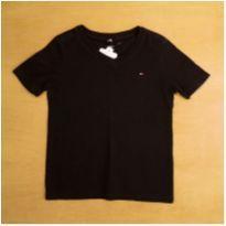 Camiseta Preta Tommy Hilfiger 4-5 Anos - 4 anos - Tommy Hilfiger