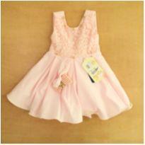 Vestido de Princesa Rosa com Laços Odassye 3 Meses - 3 meses - odassye